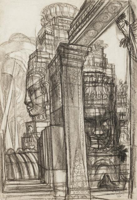 , 'Angkor, terrasse of Bayon,' 1950, Galerie Dumonteil
