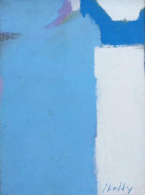 , 'White & Blue,' 1972, Caldwell Gallery Hudson
