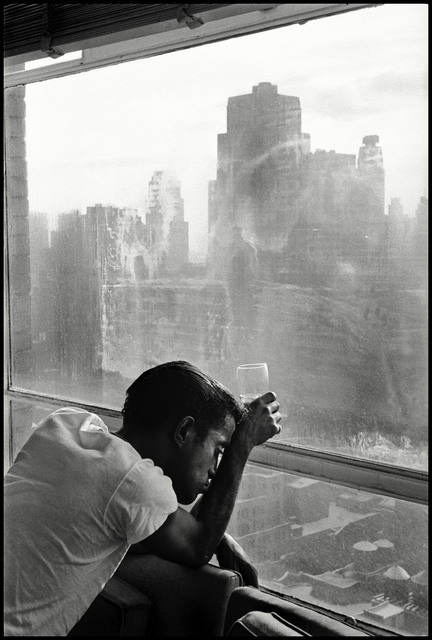 , 'Sammy Davis Jr. looks out of a Manhattan window. New York,' 1959, Magnum Photos