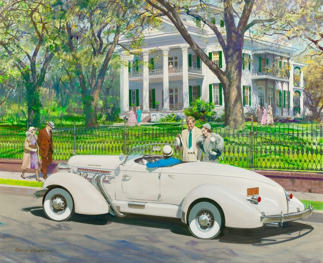 Harry Anderson, 'Stanton Hall, Natchez, Mississippi, 1935 Auburn', The Illustrated Gallery