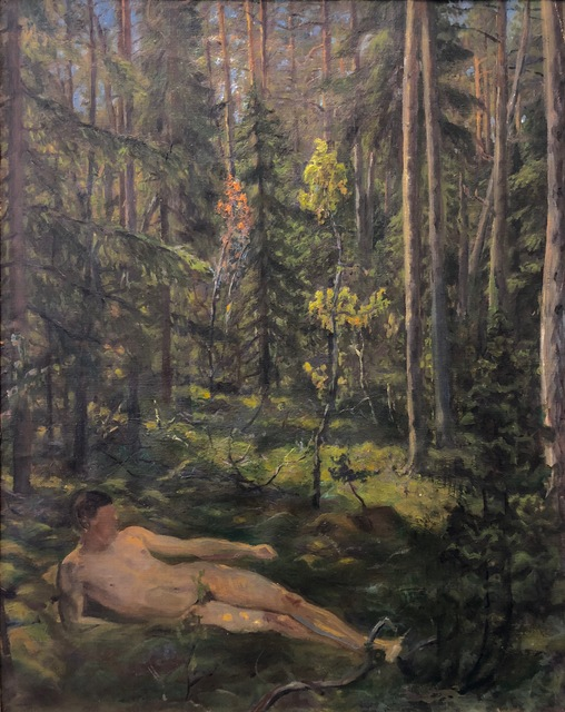 , 'Tycho Jessen Lying in the Woods,' , Susan Calloway Fine Arts