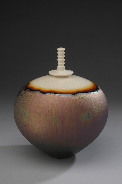 , 'Covered Vase, northern light glaze with snow cap,' , Pucker Gallery