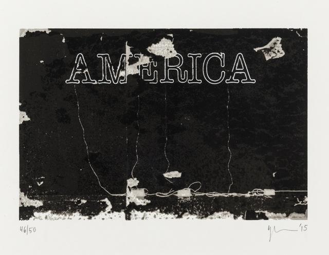 Glenn Ligon, 'America', 2015, Forum Auctions