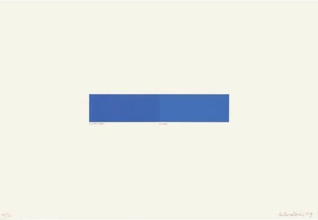 Bertrand Lavier Bleu Royal 1998 Available For Sale Artsy