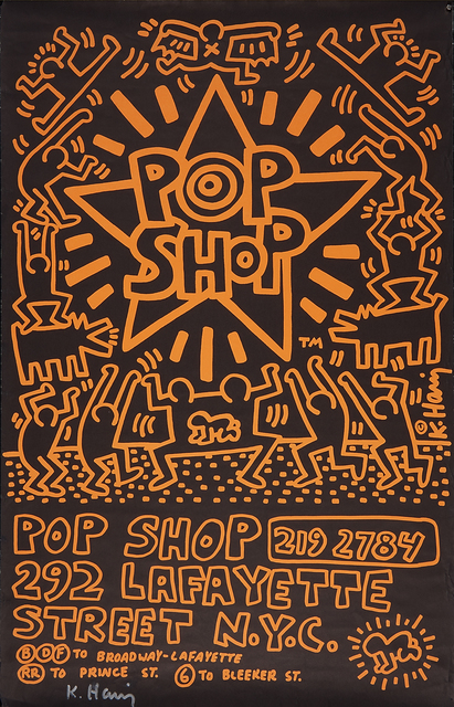 Keith Haring, 'POP SHOP NYC, Advertising Paste-Up', 1985, Rago
