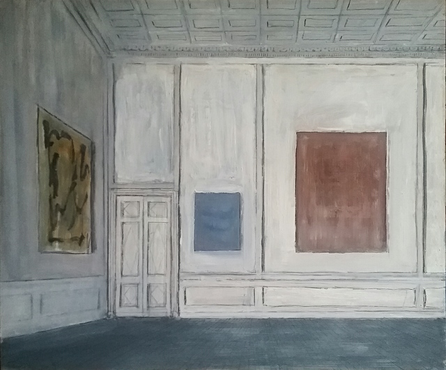 , 'Three Paintings in the Museum,' 2018, Octavia Art Gallery