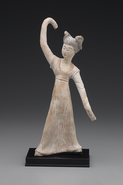 Dancer, China, Tang dynasty, 7th century c.e. Earthenware with slip and traces of pigment. Yale University Art Gallery, University Purchase
