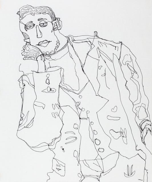 , 'After Egon Schiele, V,' 2017, Creativity Explored