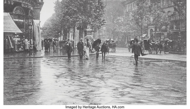 Alfred Stieglitz, 'A Wet Day on the Boulevard, Paris', 1897, Heritage Auctions