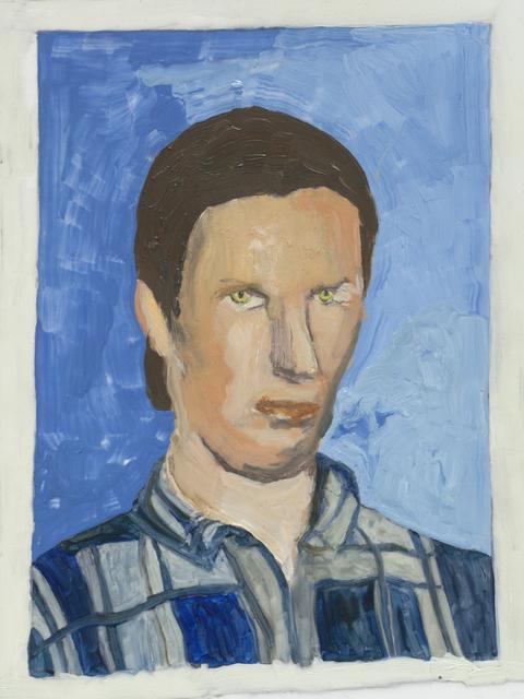 , 'Man with Eyes and Checked Shirt,' 2017, Galleri Magnus Karlsson