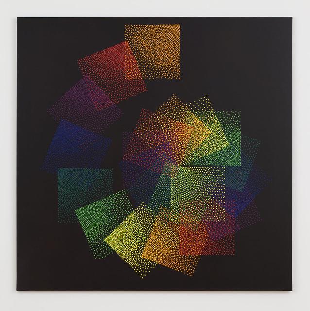 , 'Alchimie 338 - Spirale des Carrés Sept Couleurs,' 2008-2016, Perrotin