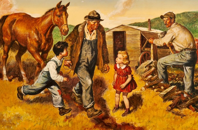 Amos Sewell, 'Man Leading Horse', 1945, The Illustrated Gallery
