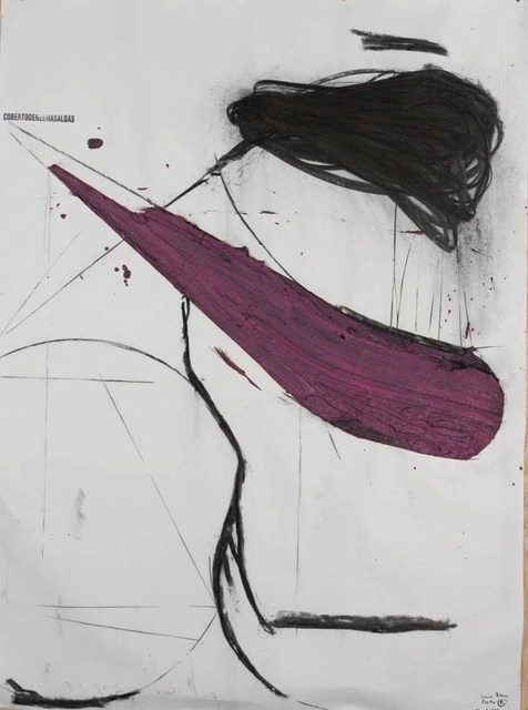 Nuno Ramos, '(cobertodenegrasalgas), Proteu series ', 2015, Painting, Celma Albuquerque Galeria de Arte