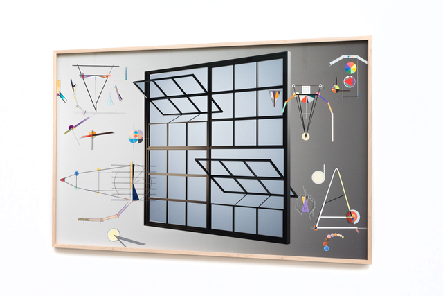 Anna K.E., 'rip current (window 02a)', 2018, Mixed Media, 3D rendering, inkjet photo print, color pencil drawing, wooden frame built in perspective, Barbara Thumm
