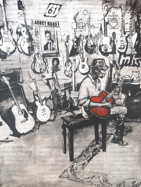 , 'The Guitar Shop,' , J GO Gallery