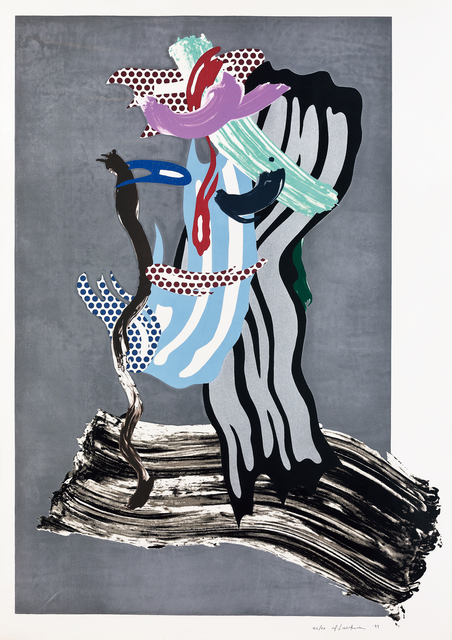 Roy Lichtenstein, 'Grandpa', 1989, Print, Lithograph, waxtype, woodcut and screenprint on cold pressed saunders waterford paper, Seoul Auction