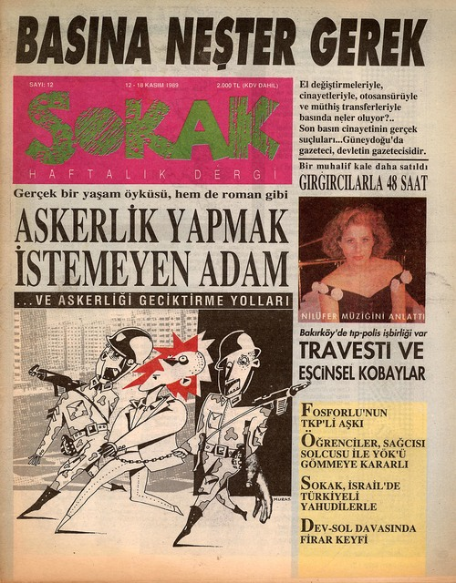 , 'Sokak [Street], Issue 12,' November 1989, SALT