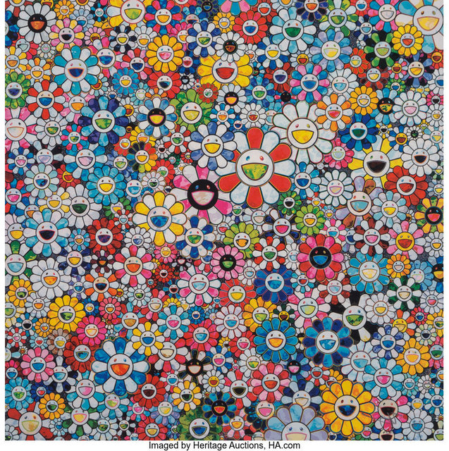 Takashi Murakami, 'Flowers and Smiley Faces', 2013, Heritage Auctions