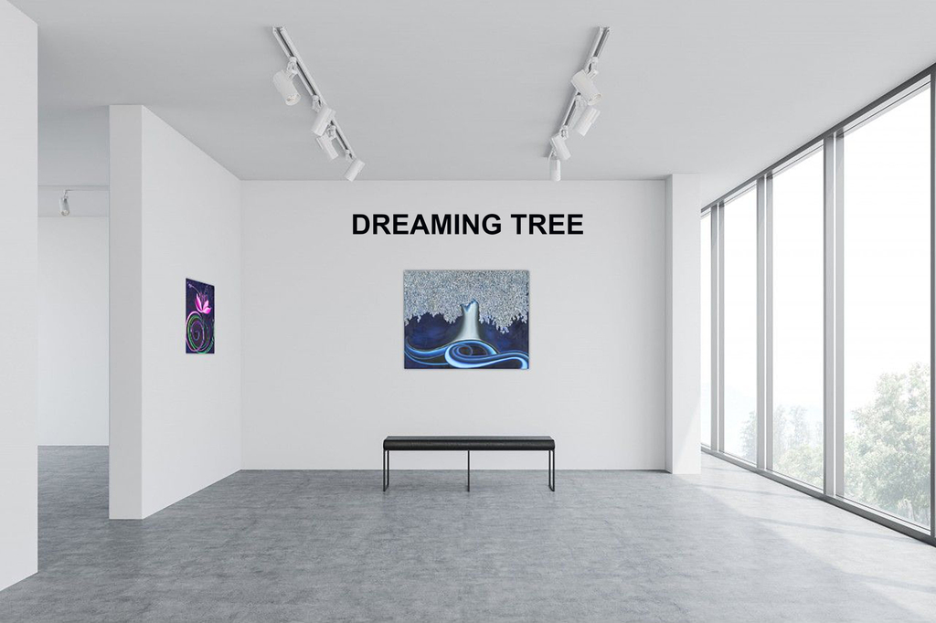 """Gallery View from Left to Right: 'Journey II', """"Dreaming Tree',"""