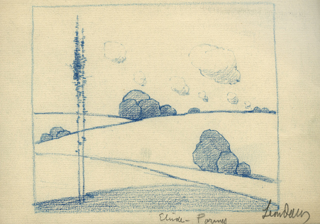 , 'Etude - Tree, Rock, and Cloud Forms,' ca. 1900, Sullivan Goss