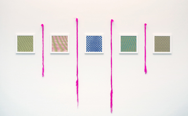 , 'Pixel Weavings and friendship bracelets,' 2015, Johannes Vogt Gallery