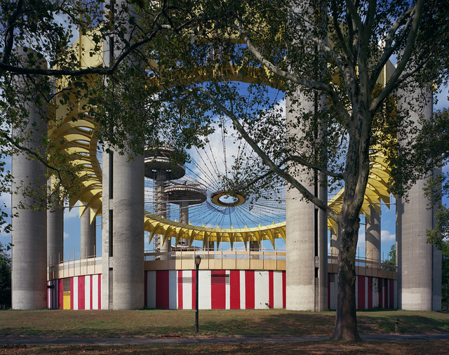 ", 'New York 1964 World's Fair, ""Peace Through Understanding,"" Philip Johnson's New York State Pavilion (fresh paint),' 2017, Front Room Gallery"