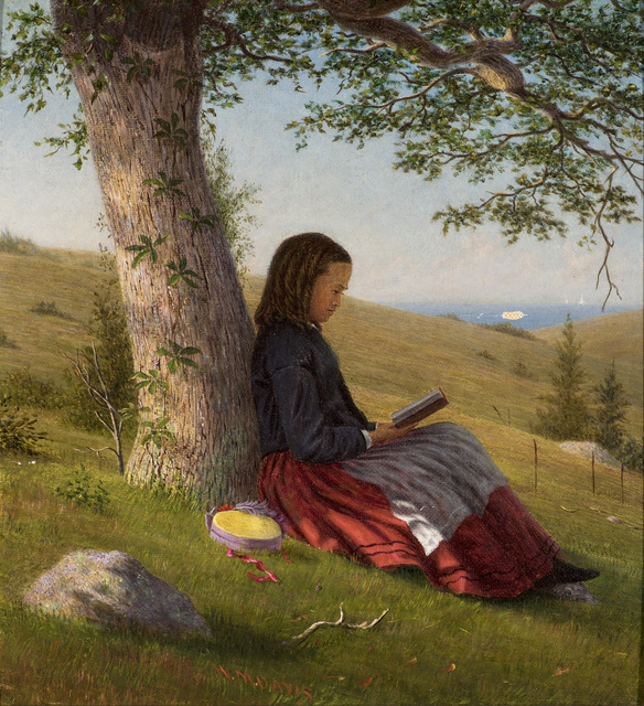 , 'Young Girl Reading by a Tree,' c. 1875, Godel & Co.