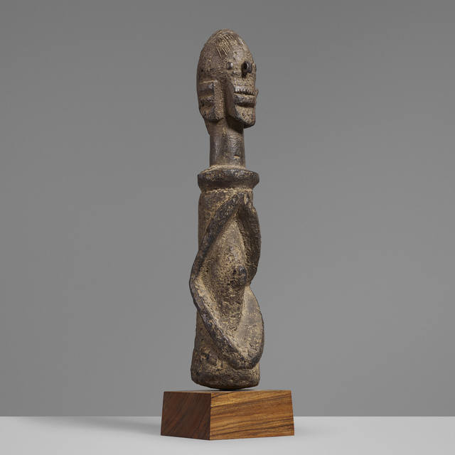 'Wundul figure', Sculpture, Carved wood, wrought iron, Rago/Wright