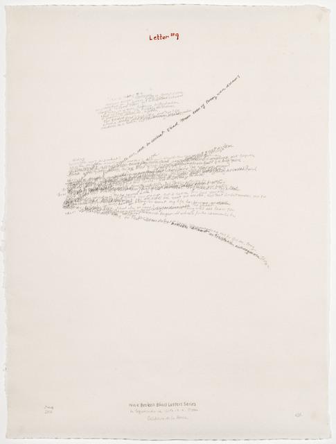 , 'Letter #9,' 2004, Travesia Cuatro