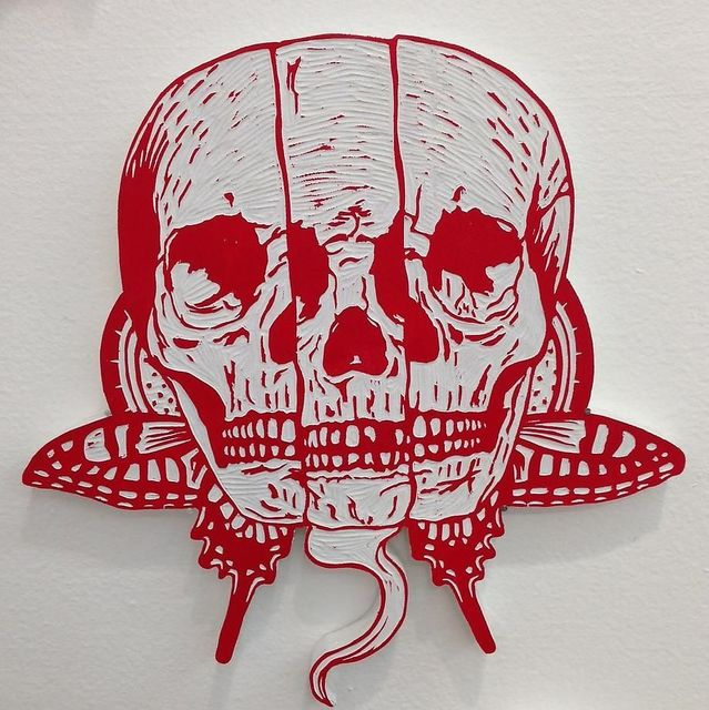 , 'Skull Butterfly,' 2014, Mark Moore Fine Art