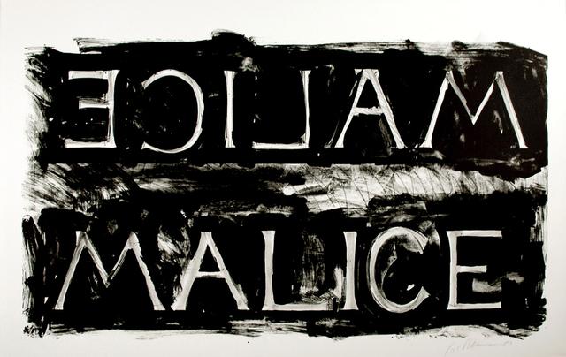 Bruce Nauman, 'Malice', 1980, Upsilon Gallery