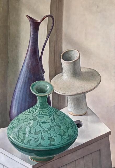Michael Taylor (b. 1952), 'Three Pots', 2020, Painting, Oil on canvas, Waterhouse & Dodd