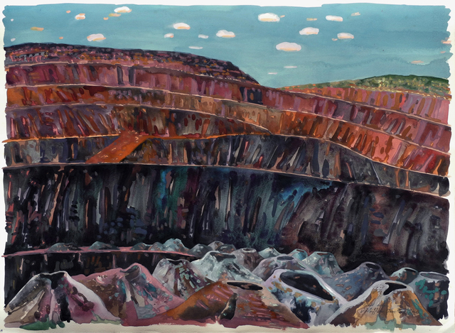 , 'Blast Holes, Tom Price Mine,' 1989, Charles Nodrum Gallery