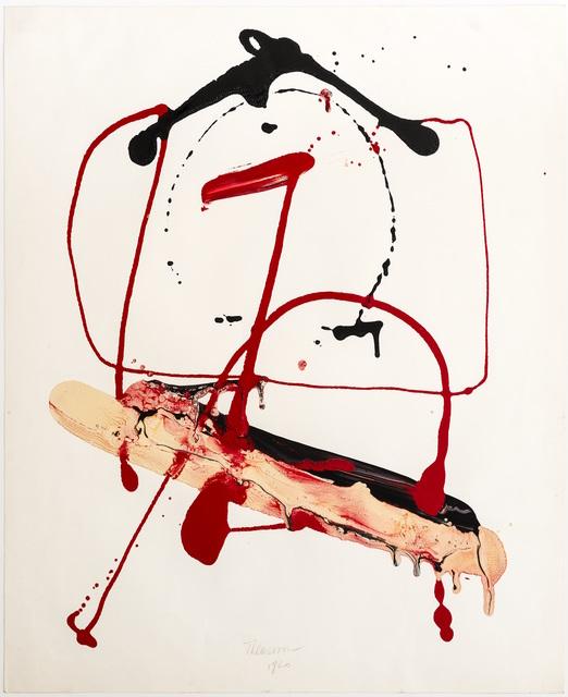 , 'Calligramme VI ('H'),' 1960, l'étrangère