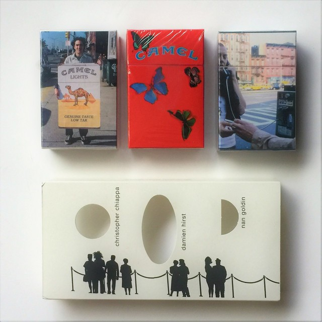 "Damien Hirst, '""Work in Progress"", 1999, Set of 3 Camel Lights, Limited-Edition Artist's Packs, Damien Hirst, Nan Goldin, and Christopher Chiappa, 1999, R.J. Reynolds Tobacco', 1999, VINCE fine arts/ephemera"