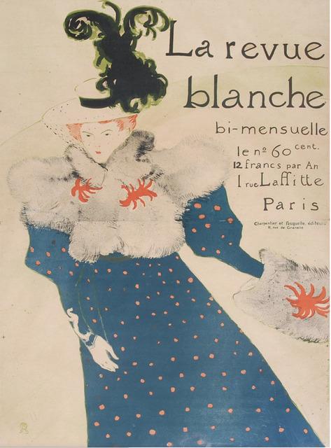 Henri de Toulouse-Lautrec, 'La Revue Blanche', 1890, Heather James Gallery Auction