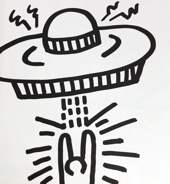 Keith Haring, 'Keith Haring (untitled) spaceship lithograph 1982 ', 1982, Lot 180
