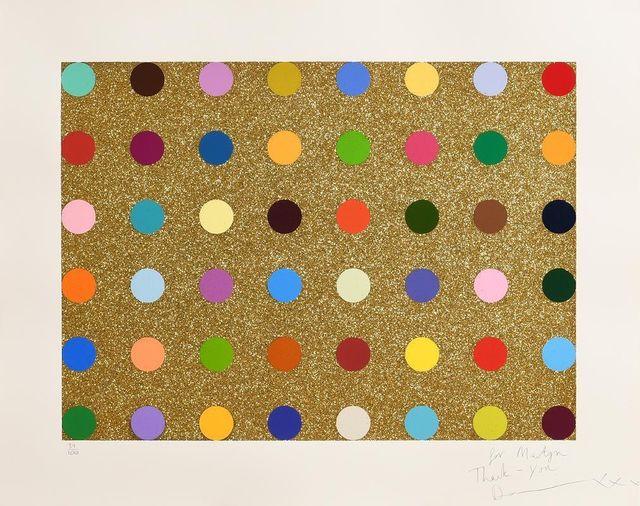 Damien Hirst, 'Gold Glitter Spots', ca. 2010, Gormleys Fine Art