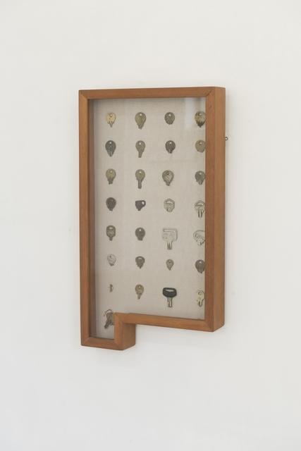José Manuel Mesías, 'S/t', 2010-2015, Mixed Media, Broken keys, wooden box and glass, GALLERIA CONTINUA