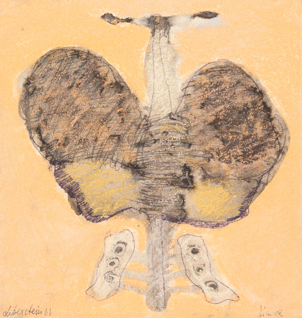 Jan Lebenstein, 'Figure', 1961, Drawing, Collage or other Work on Paper, Charcoal and pastel on paperboard, Hindman
