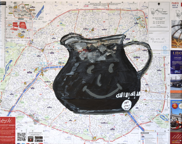 Susan Spangenberg, 'Terrorism - Don't Drink the Kool-Aid', 2015, Fountain House Gallery
