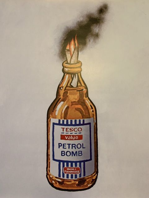 Banksy, 'BANKSY TESCO PETROL BOMB, ORIGINAL LITHOGRAPH 1/2000 LTD EDITION ', 2011, Arts Limited