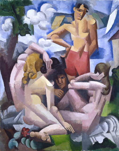 Roger de la Fresnaye, 'The Bathers', 1912, National Gallery of Art, Washington, D.C.