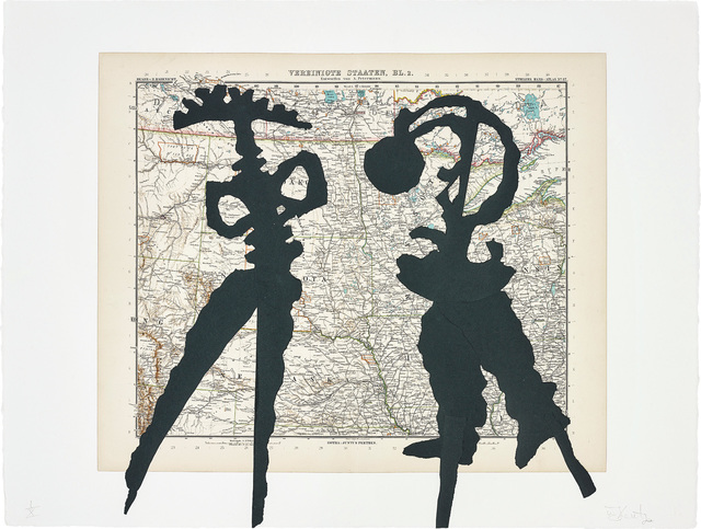 William Kentridge, 'Atlas Confessions (Maps)', 2002, Phillips