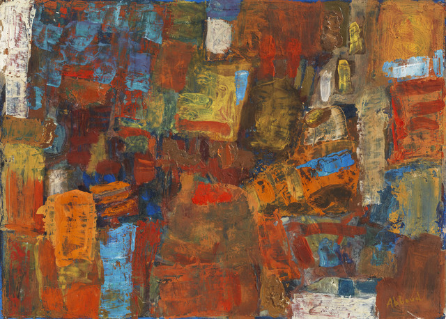 Chafic Abboud, 'Composition', 1958, Painting, Tempera on paper, Agial Art Gallery