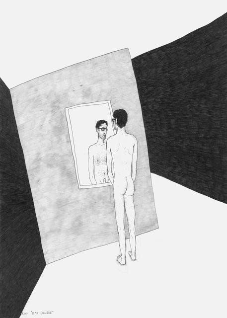 , 'Das Double (from the sereies: Die gezeichneten Ausstellungen),' 2017, Galerie Krinzinger