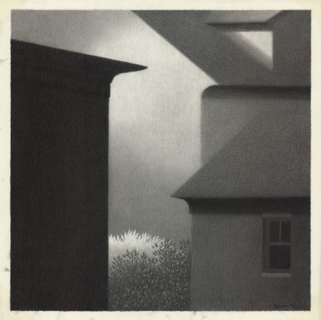 , 'Eaves with Dark Window.,' 1990, The Old Print Shop, Inc.
