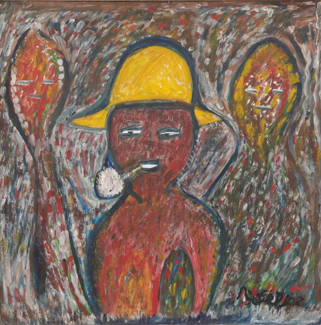 , 'Man With Yellow Hat and Lwas,' c 1960, The Gallery of Everything
