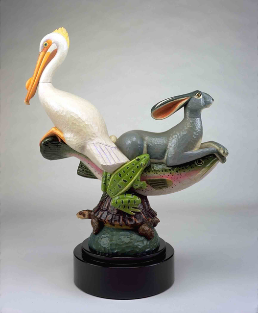 David Everett, 'Longboat', 2004, Sculpture, Polychromed mahogany, Valley House Gallery & Sculpture Garden