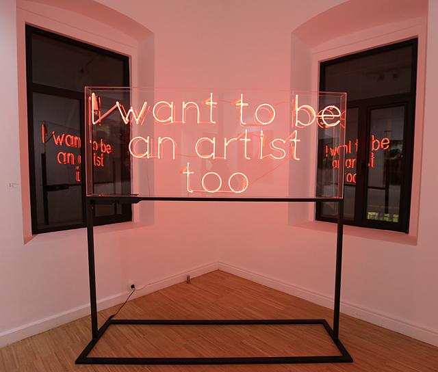 , 'I want to be an artist too,' 2016, Anna Laudel